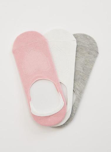 DeFacto 3'lü Babet Çorabı Pembe